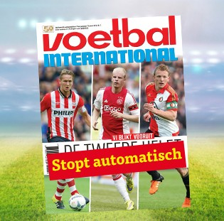 Voetbal international 50% korting 8 nr's nu €15.-!