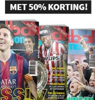 Voetbal international 50% korting | 8 nr's nu €15.-!