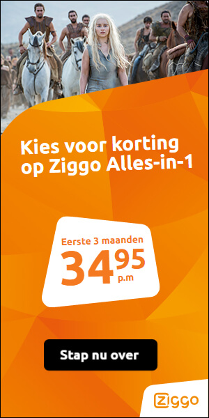 Een Ziggo aanbieding die je niet mag missen. Bij een Alles-in-1 Gegarandeerd overal in huis perfecte wifi. Profiteer van Ziggo Power Promise! Betaal slechts € 34.95!