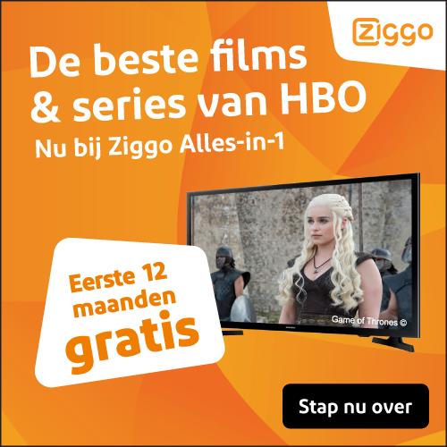 Ziggo Overstappen met 12 maanden gratis HBO of 3 maanden € 34.95 per maand.