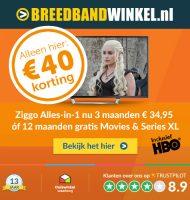 """Ziggo """"Alles-in-1"""" goedkoper dan bij Ziggo zelf! Dit abonnement is goedkoper dan bij Ziggo! Betaal €34.95 per maand of 12 maanden gratis Movies & Series XL."""