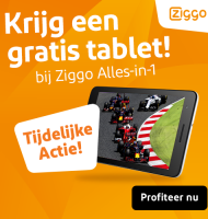 Ziggo Alles in 1 nu met gratis tablet